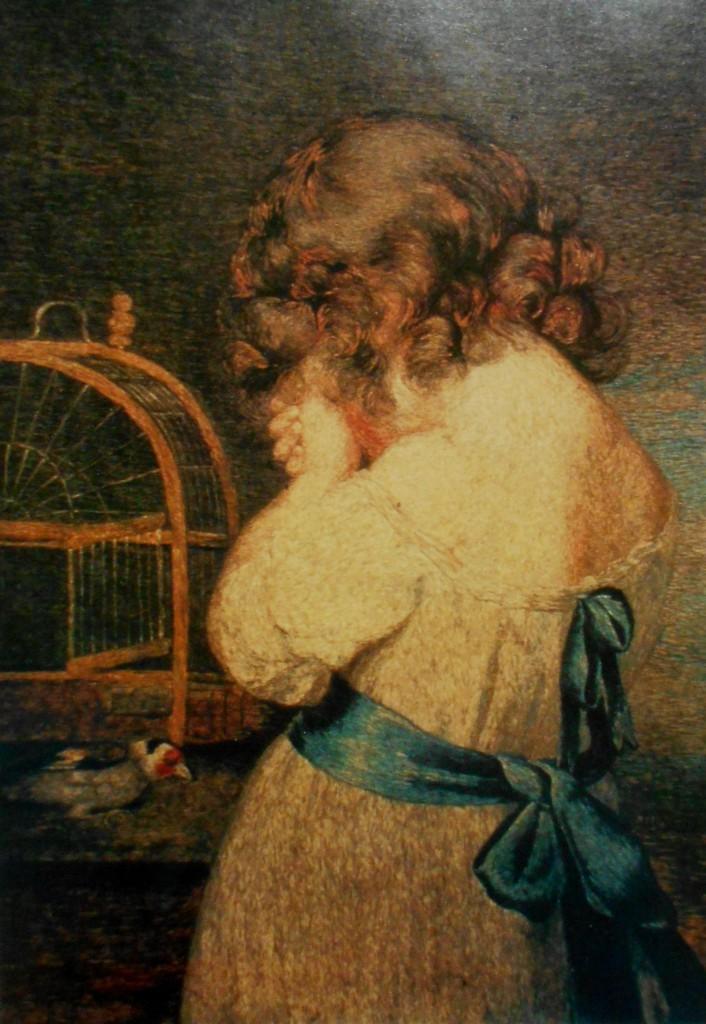 Линвуд - Девочка, оплакивающая своего щегла, заморенного голодом в клетке